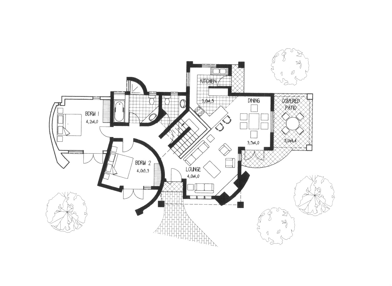 hatched House Plans – he rchitect – Karter Margub and ssociates - ^